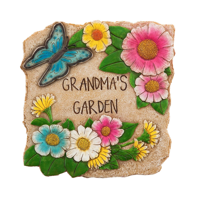 """10"""" Garden Stone, Grandma's Garden"""