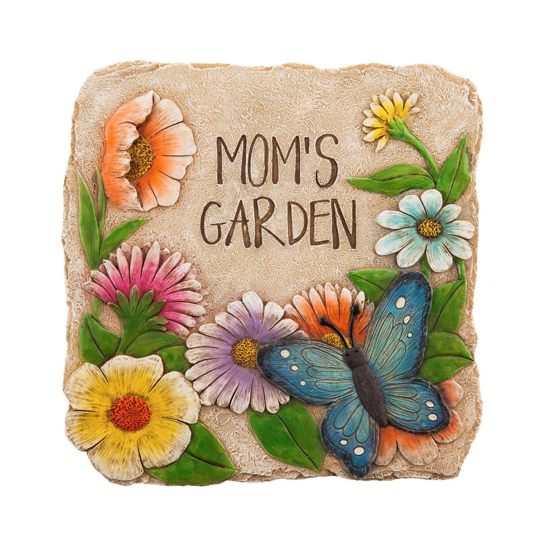 """10"""" Garden Stone, Mom's Garden"""