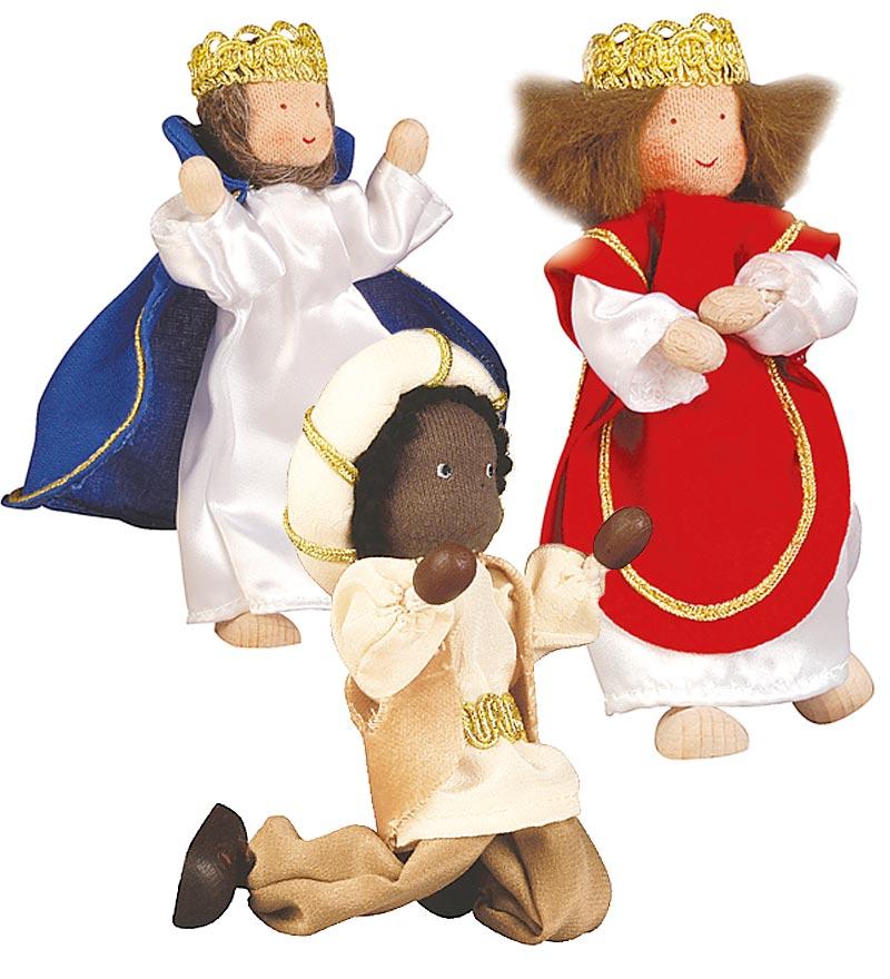 three-piece nativity dolls set