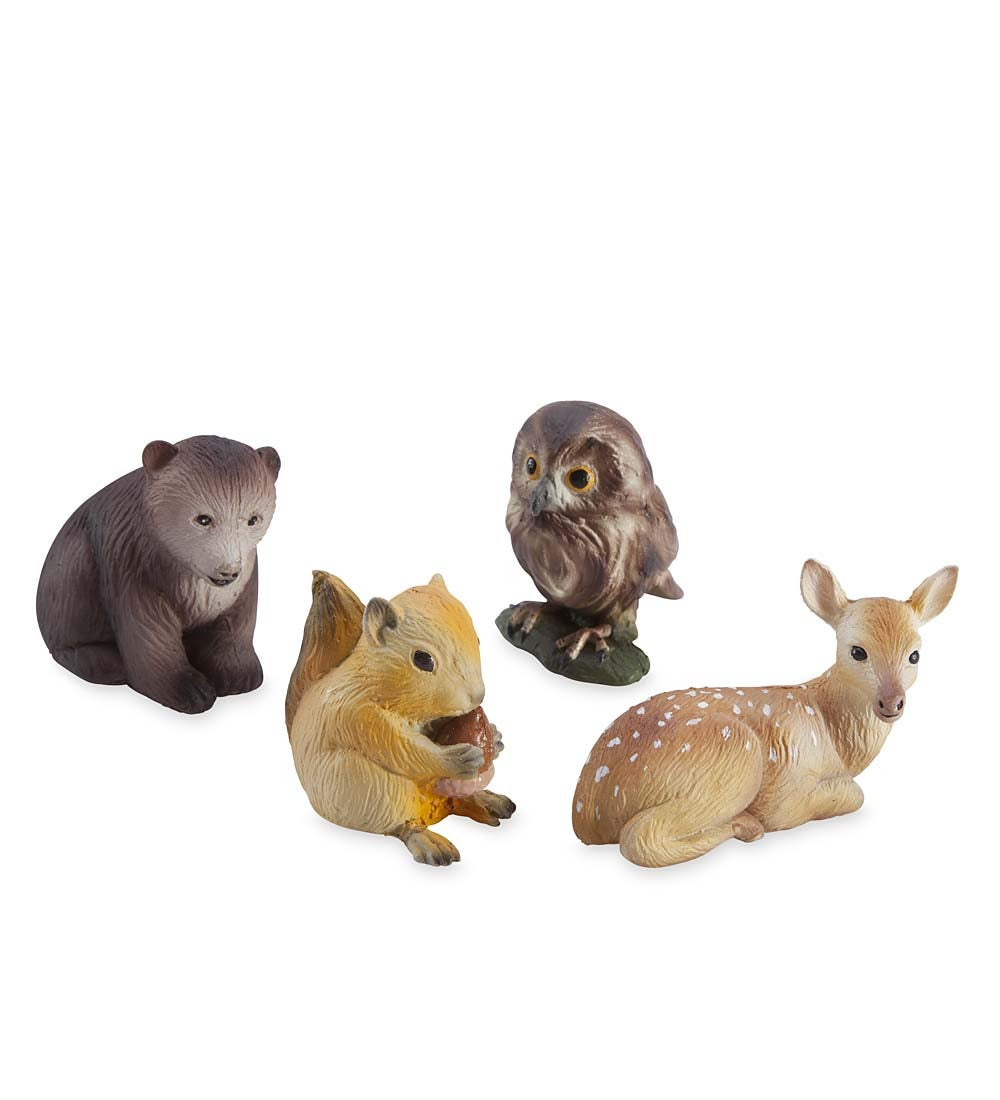 woodland baby animal collection, set of four