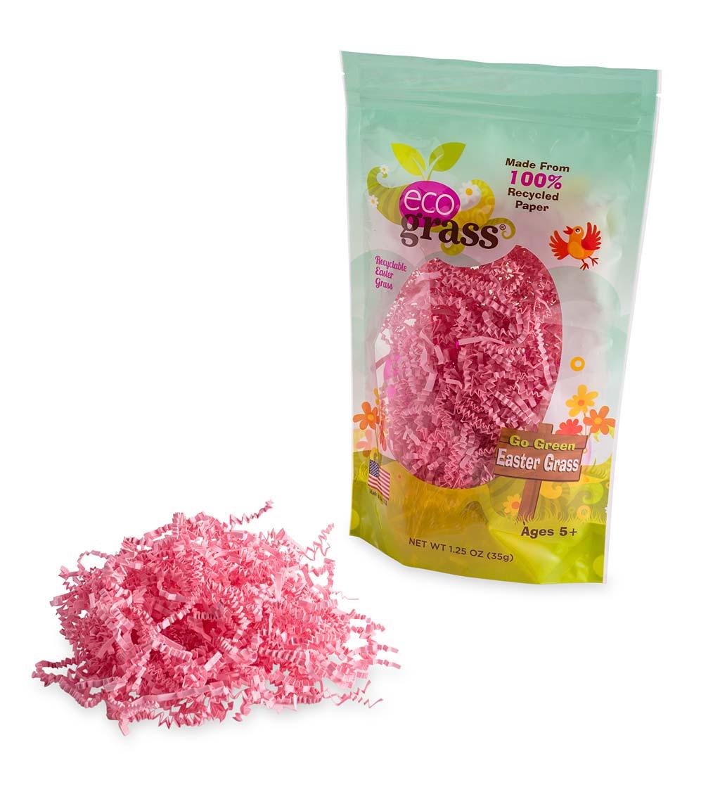 eco grass™ easter grass: pink, set of six