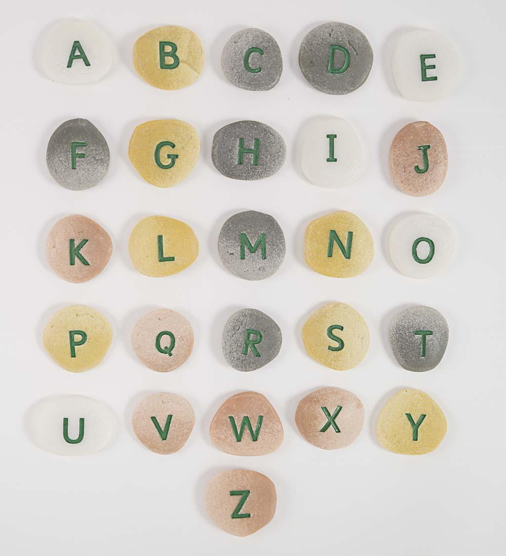 26-piece uppercase letter alphabet pebbles set