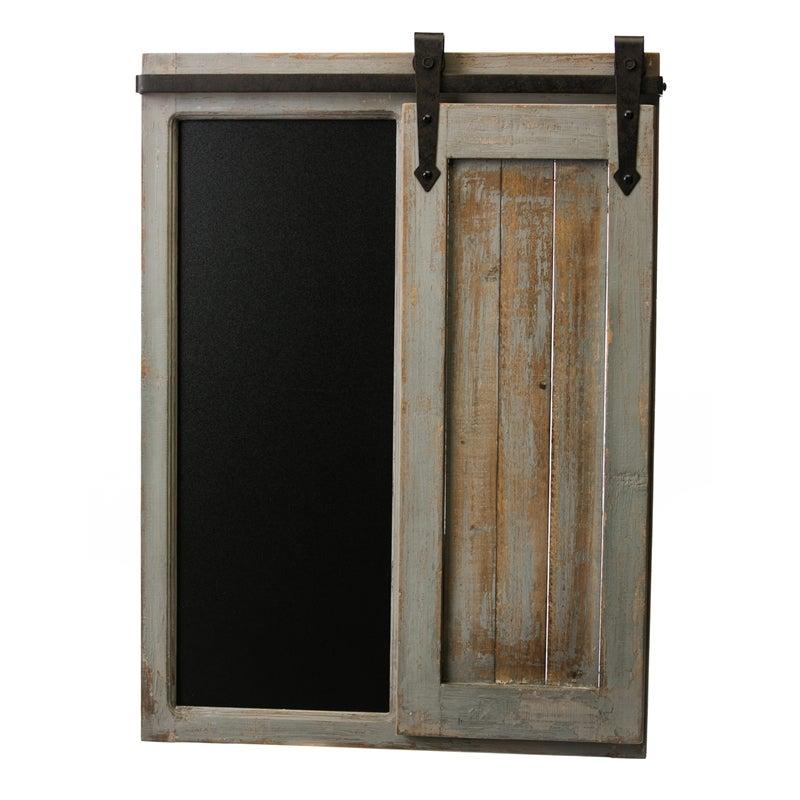 Wood and Metal Barn Door Chalkboard