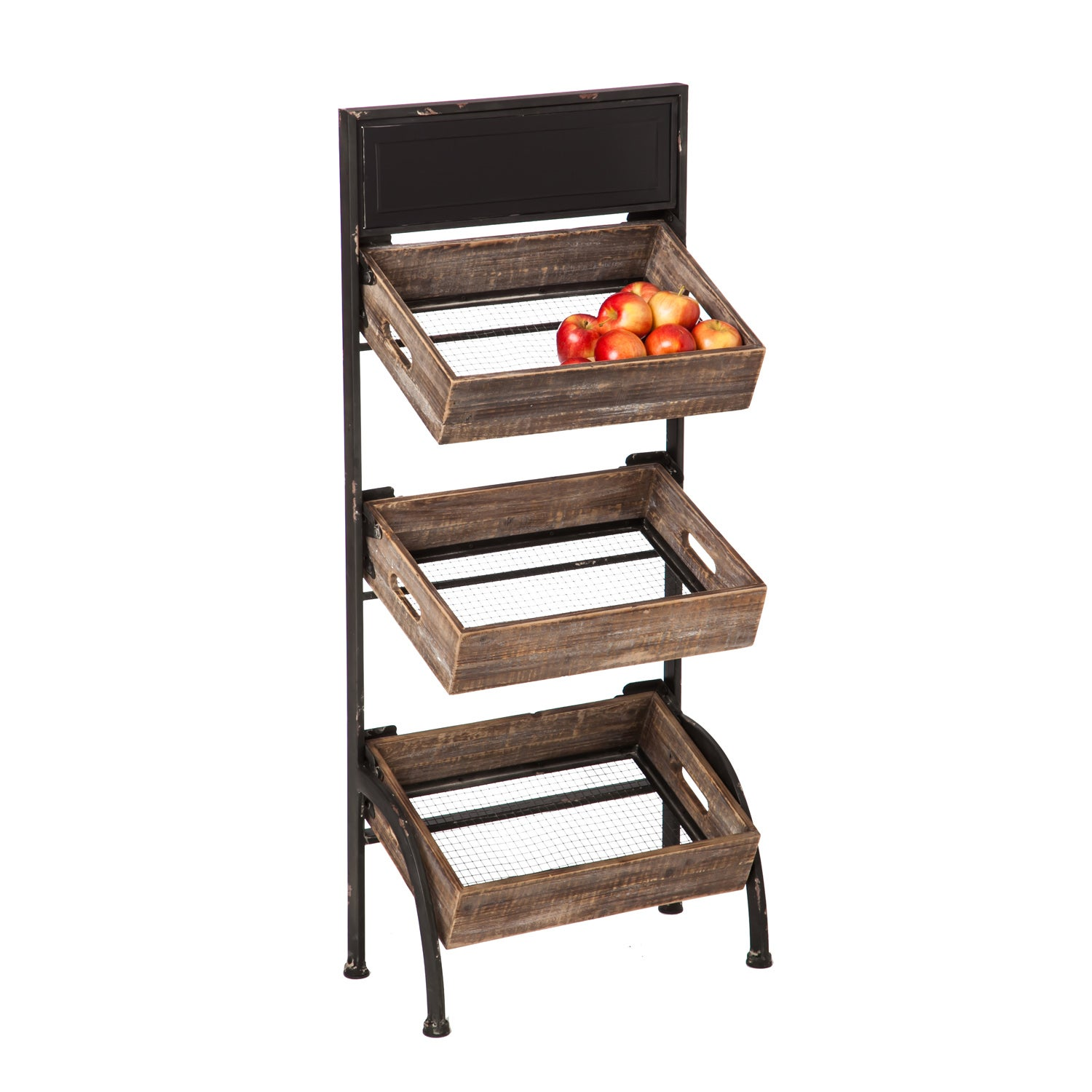 Personalizable Wood and Metal Storage Rack
