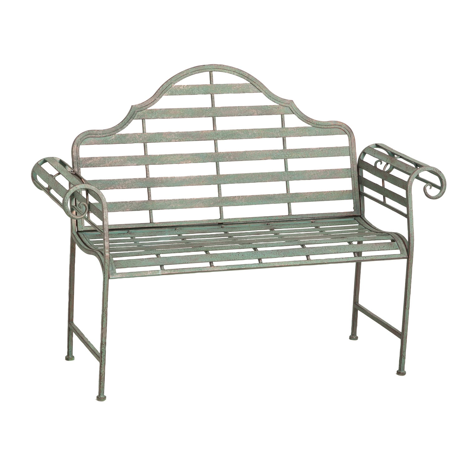 Chippendale Style Metal Bench