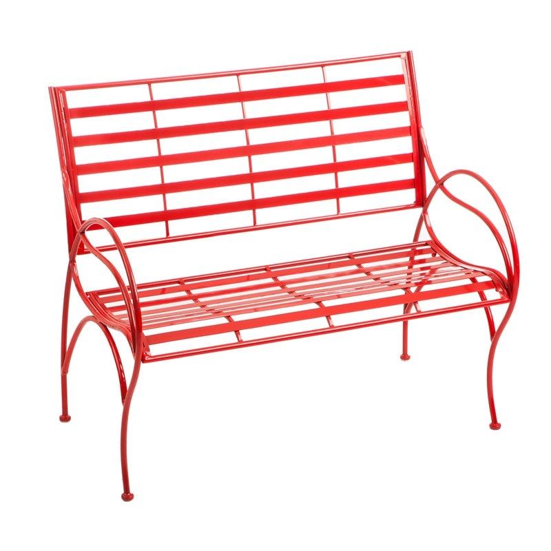 Red Swirl Garden Bench