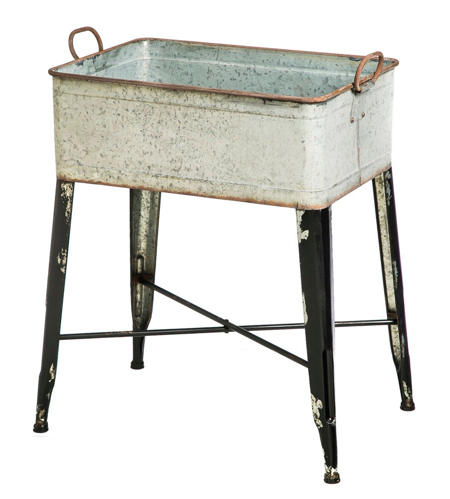 Vintage Metal Wash Tub Planter