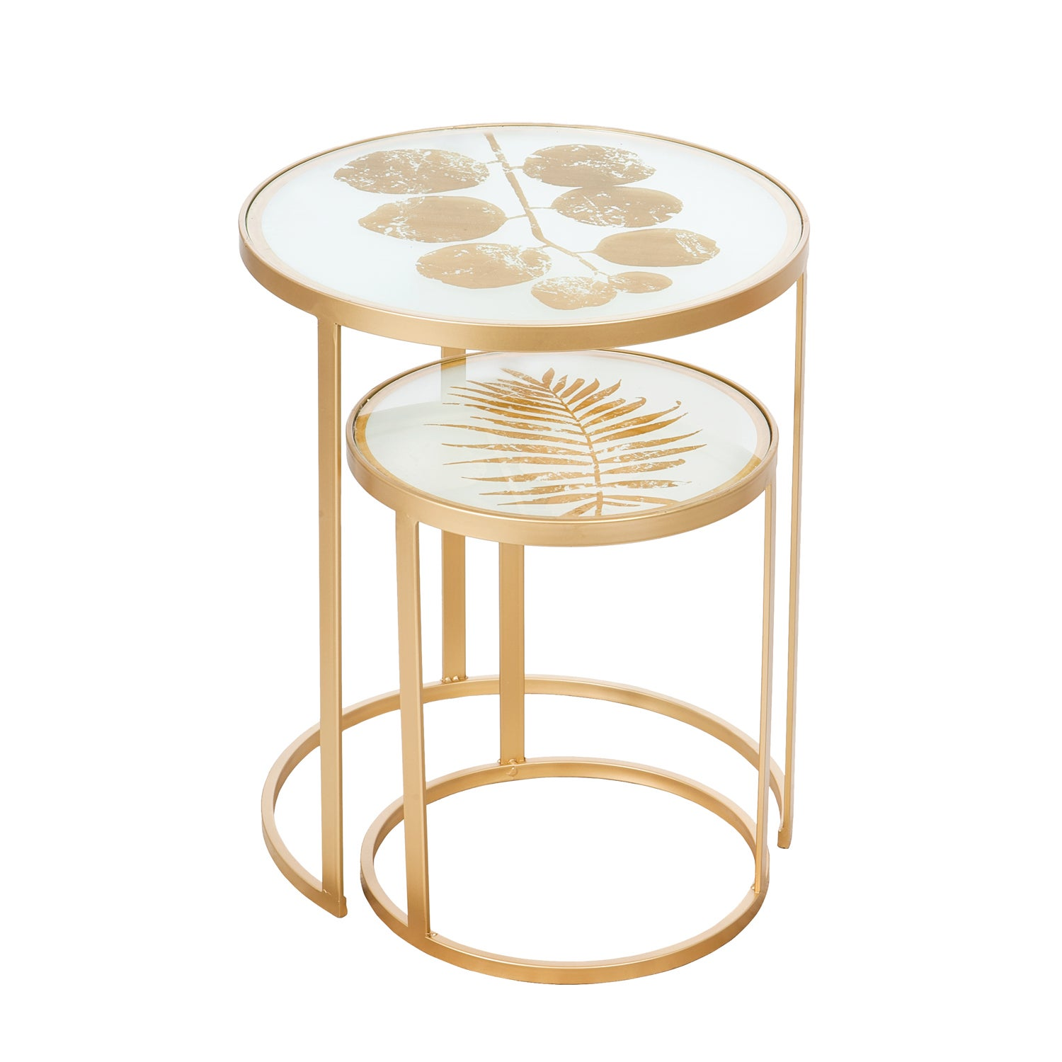 Nested Metal Tables, Set of 2