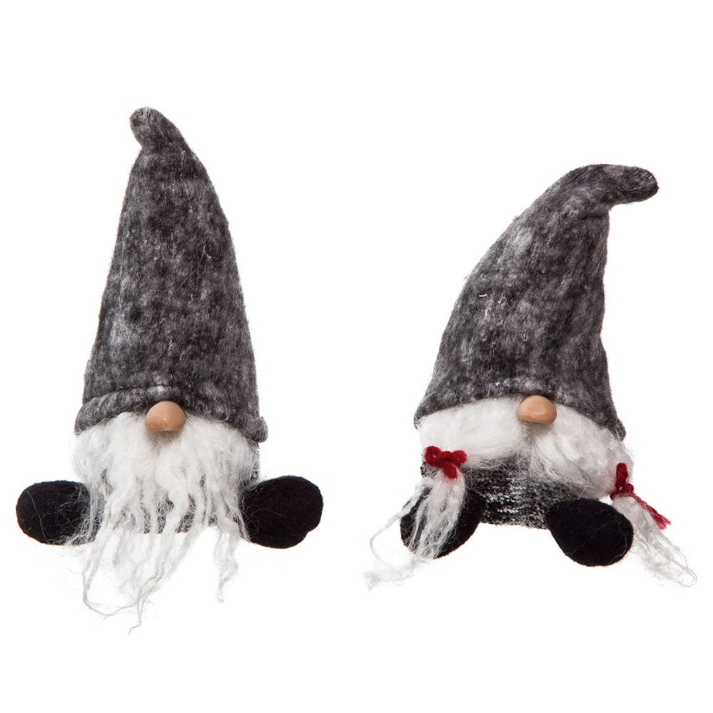 Plush Holiday Gnome Tabletop Decor, Set of 2