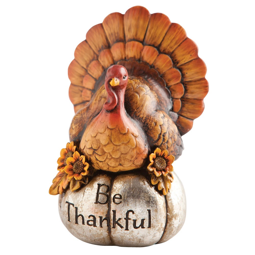 Be Thankful Turkey Tabletop Decor