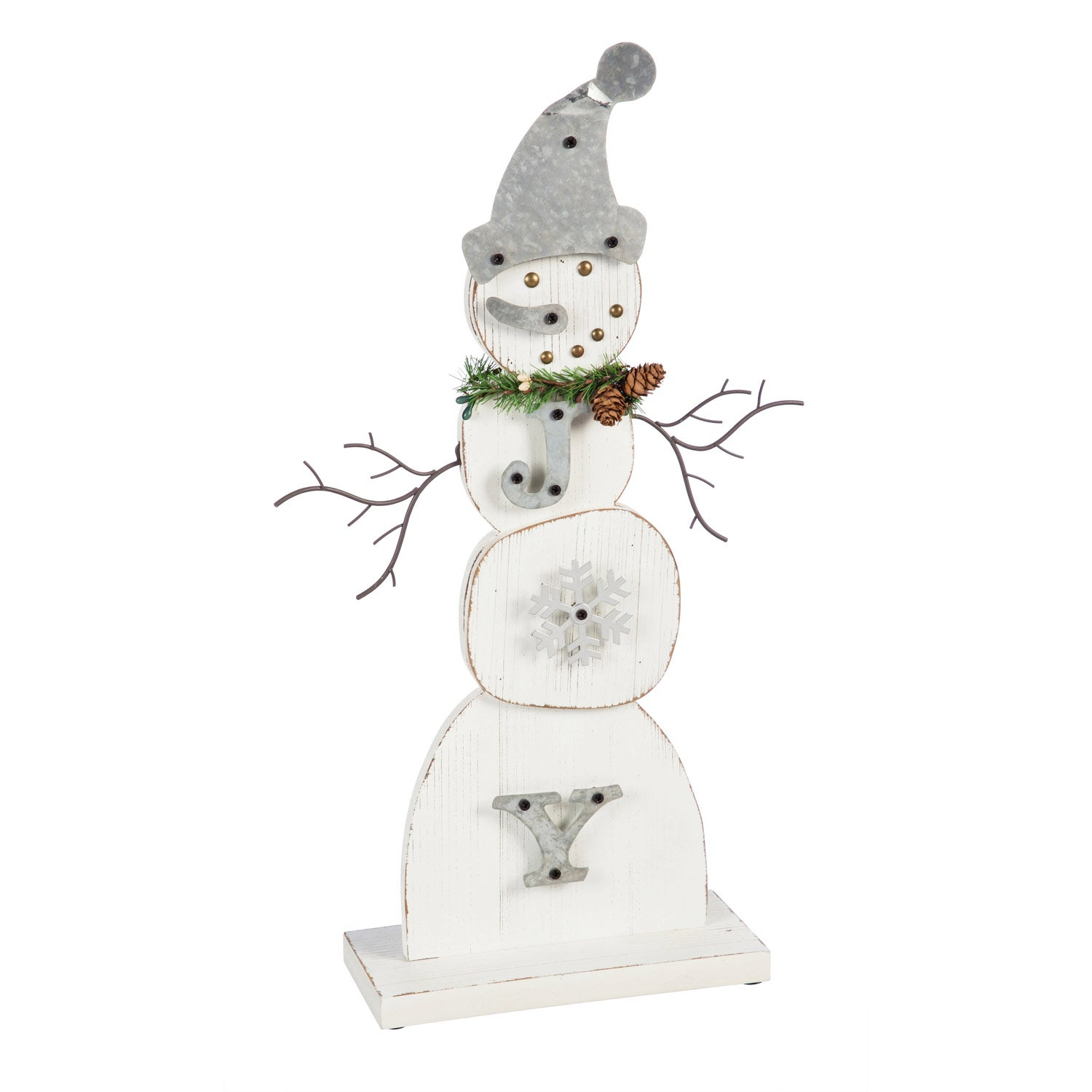 "Snowman ""JOY"" Tabletop Décor"
