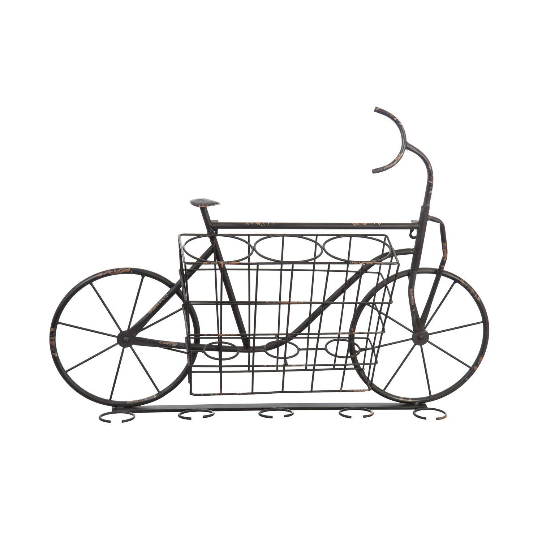 Bicycle Metal Wine and Glass Rack