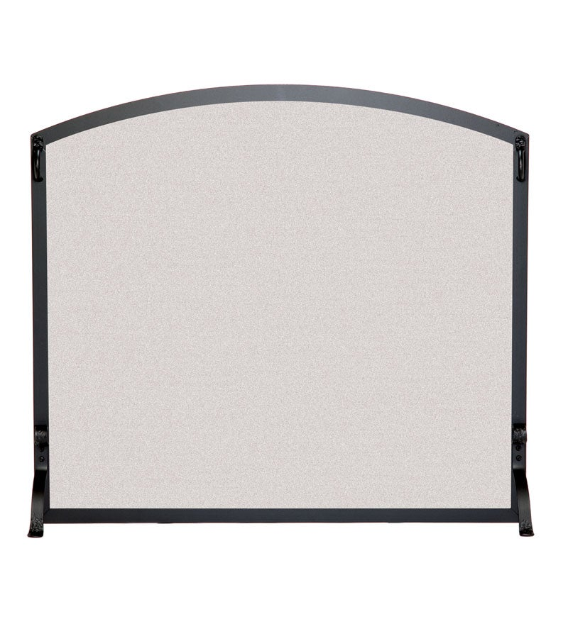 Large Flat Fireplace Screen With Arched Top