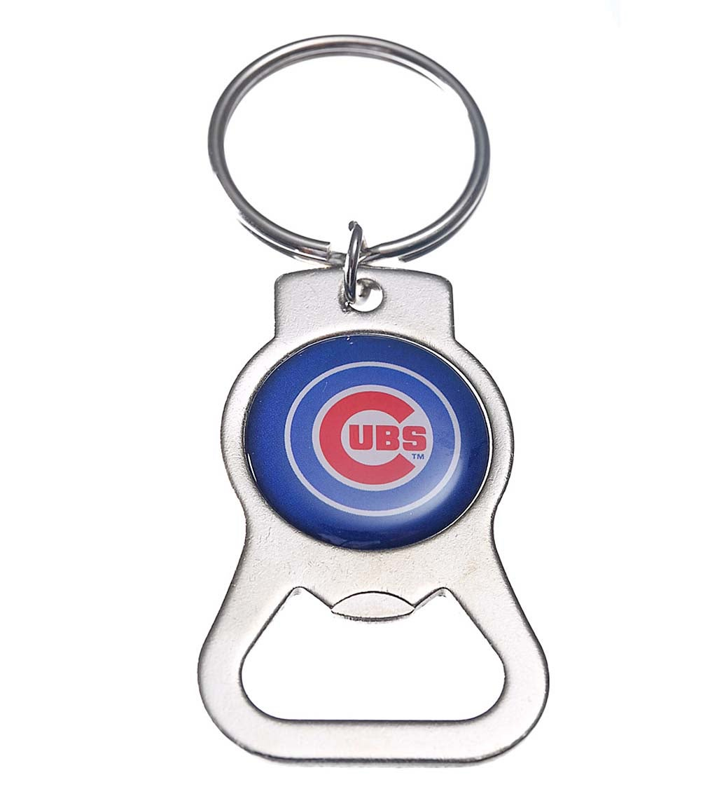 Chicago Cubs Bottle Opener Key Ring