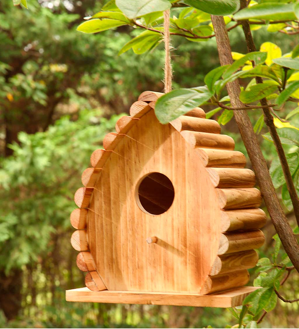 Handcrafted Wood Dew Drop Bird House (816178025383 Home & Garden Decor) photo