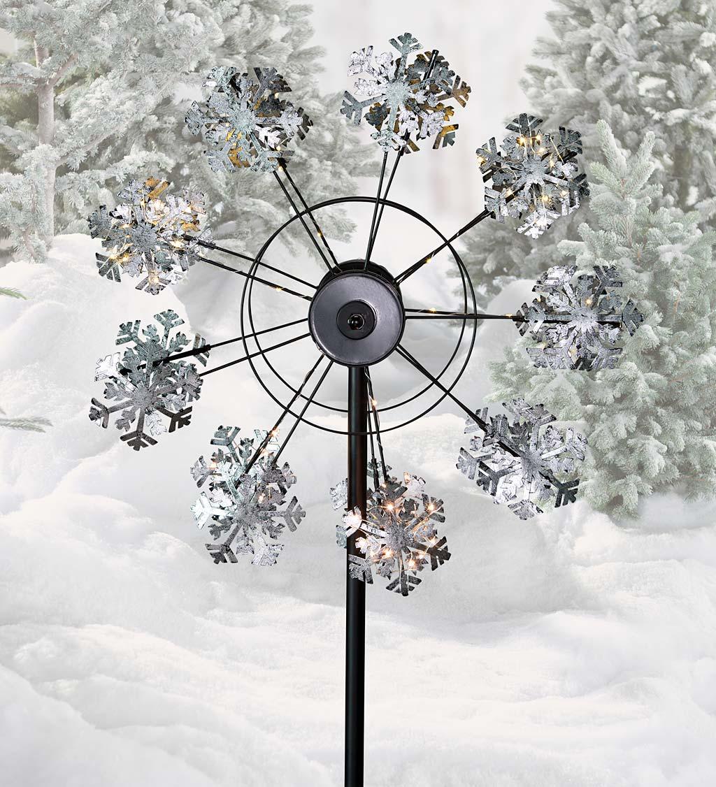 Solar Snowflake Wind Spinner