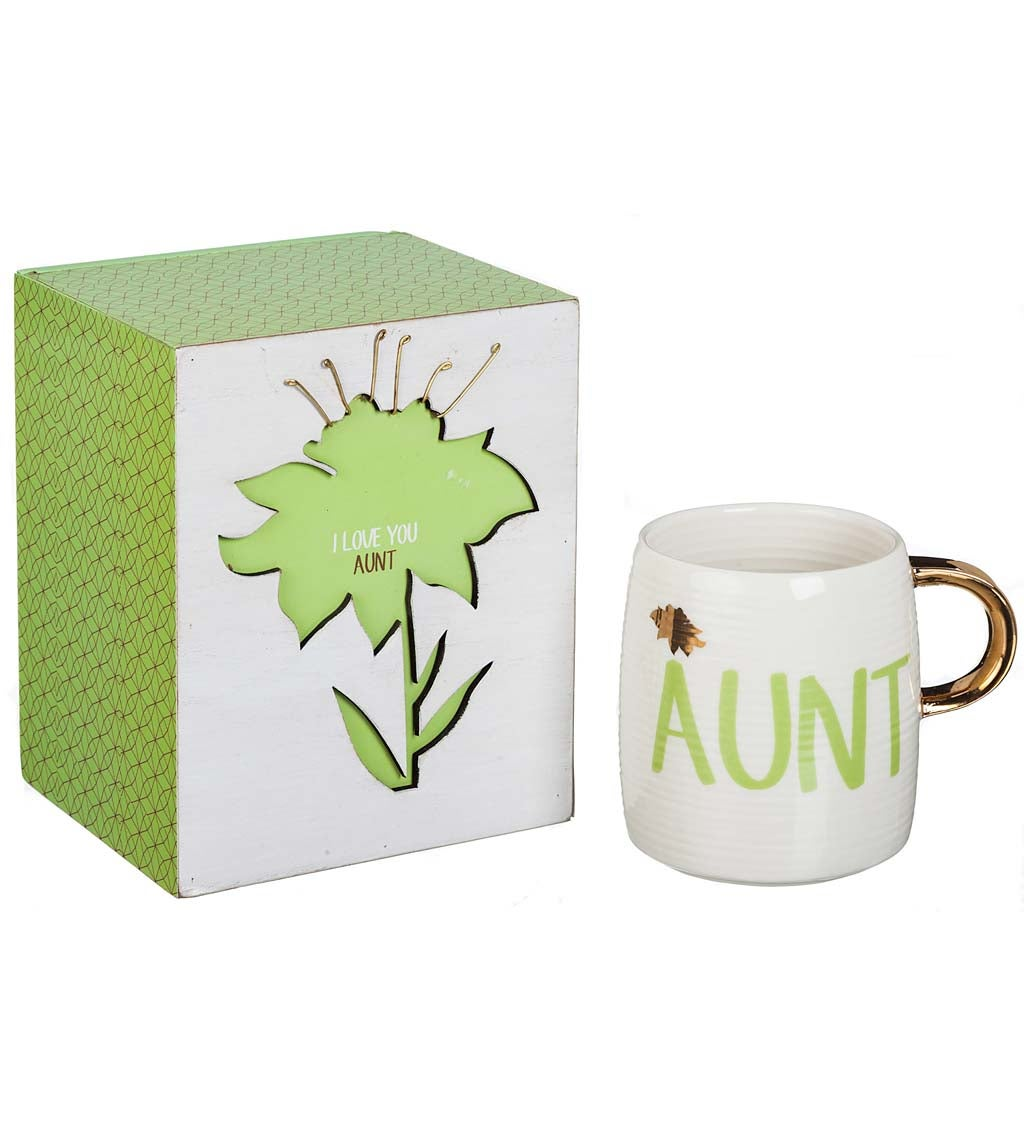 I Love You Aunt Decorative Box and Ceramic Cup Gift Set