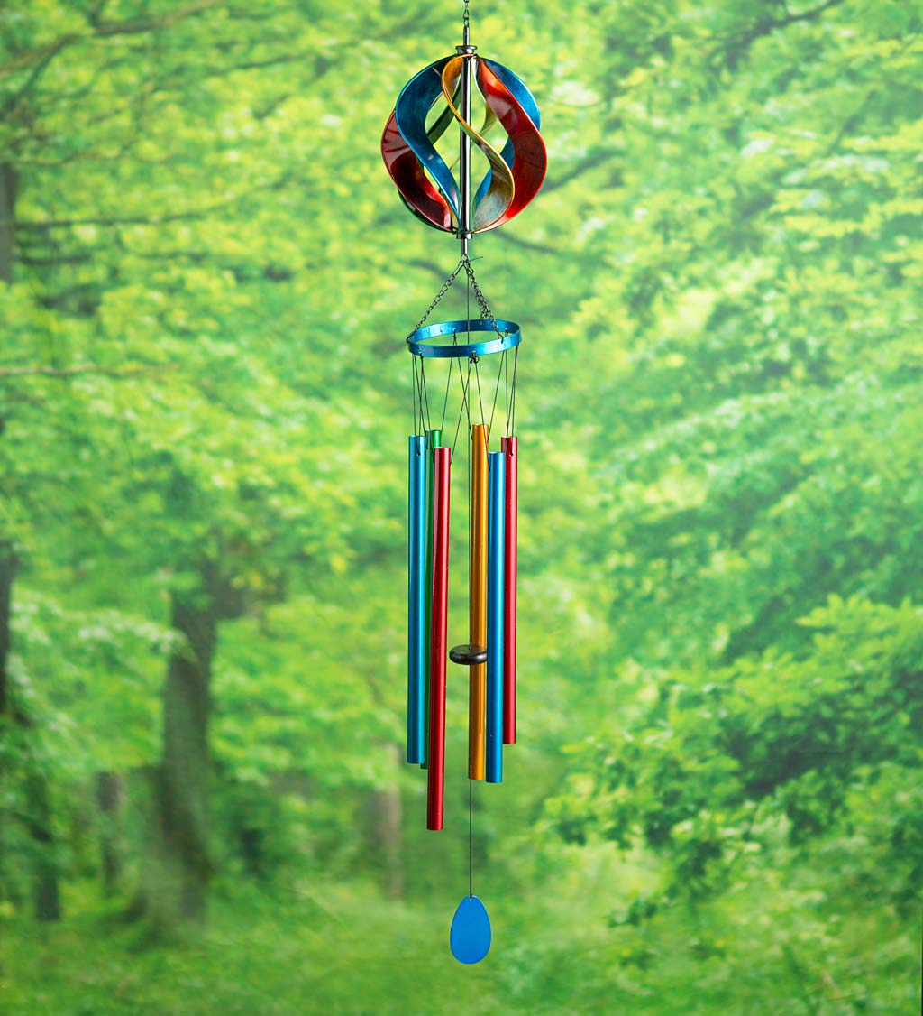 Hanging Wind Chimes with Mini Spinner