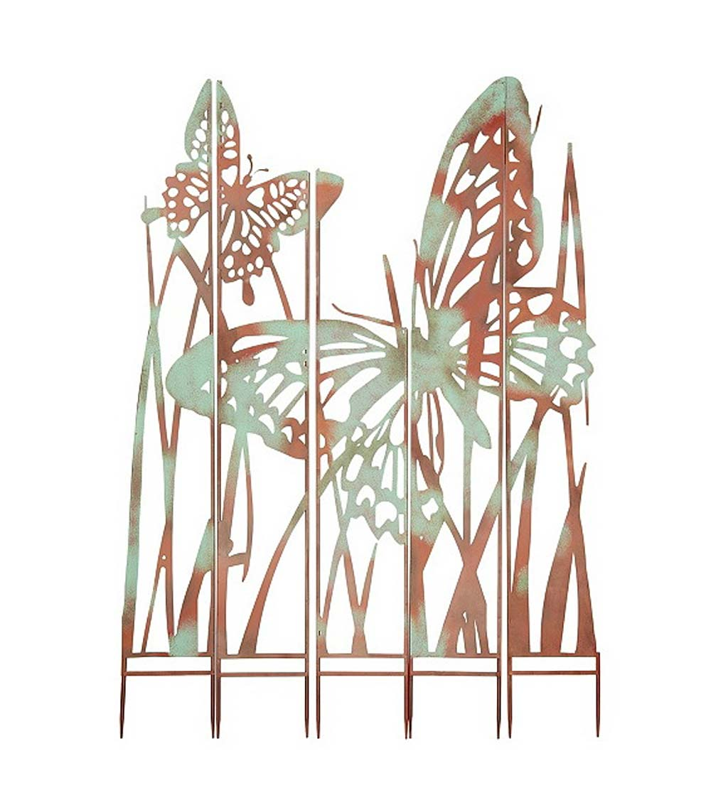 Butterfly Garden Landscape Panel Stakes, Set of 5