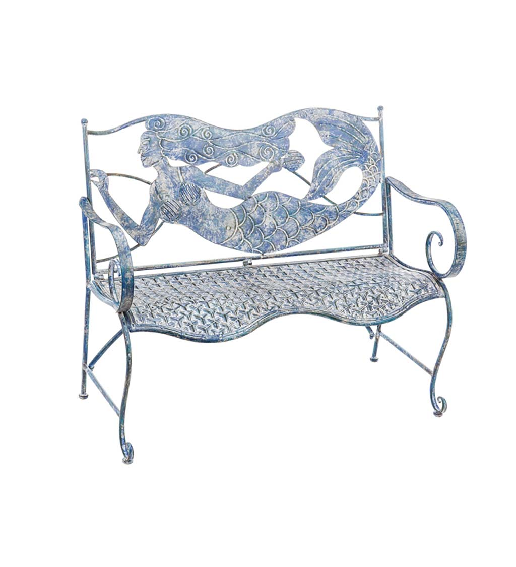 Metal Mermaid Indoor/Outdoor Bench