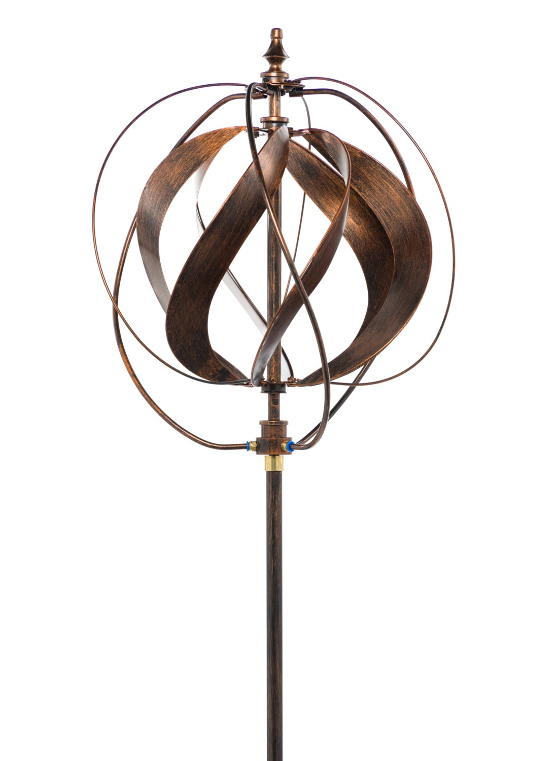 """85"""" Sphere Hydro Wind Spinner Weathered Cooper"""