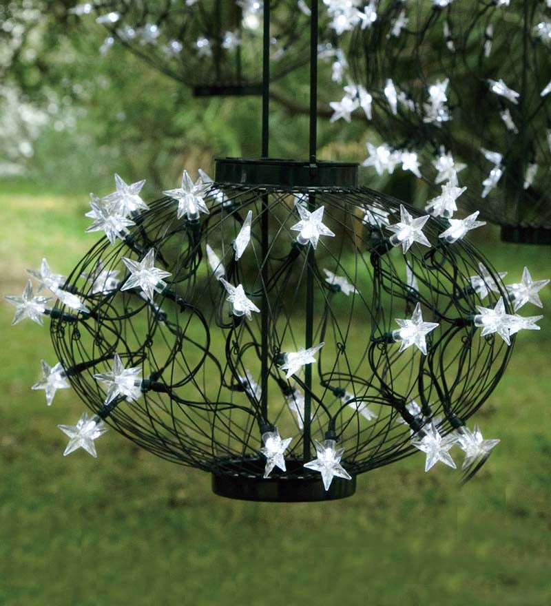 Details About Large Green Solar Star Holiday Lantern With 72 Led Lights