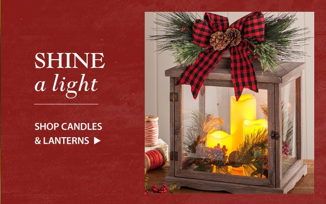 Shine a light - Shop candles and lanterns!