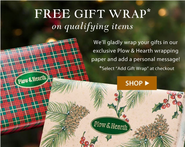 FREE gift wrap on qualifying items. We'll gift wrap your items and add a personal message! Just select