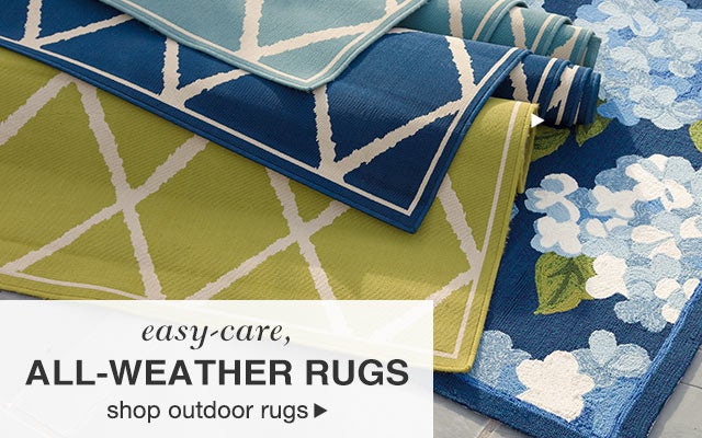 Easy-care, all-weather rugs - shop outdoor rugs