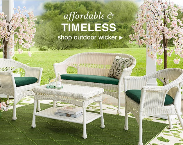 Affordable and timeless! Shop outdoor wicker