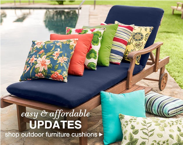 Easy and affordable updates - shop outdoor furniture cushions