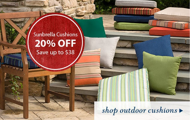Sunbrella Cushions 20% Off - Save up to $38 - Shop Outdoor Cushions