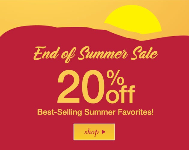 Summer Sale: 20% off best-selling favorites! Shop