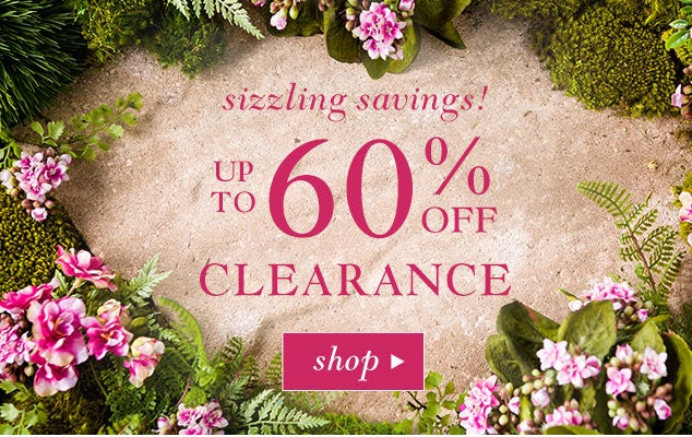 Sizzling savings - Up to 60% Off in Clearance. Save