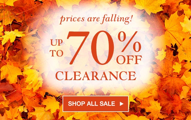 Prices are falling - Up to 70% Off in Clearance.