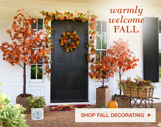 Warmly welcome fall. Shop fall decorating