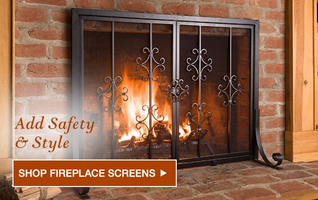 Add safety and style - Shop fireplace screens