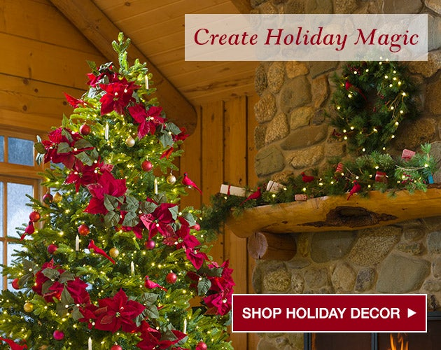 Create Holiday Magic - Shop holiday decor.