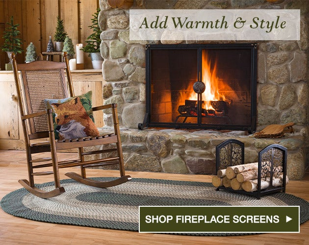Add warmth and style. Shop fireplace screens.