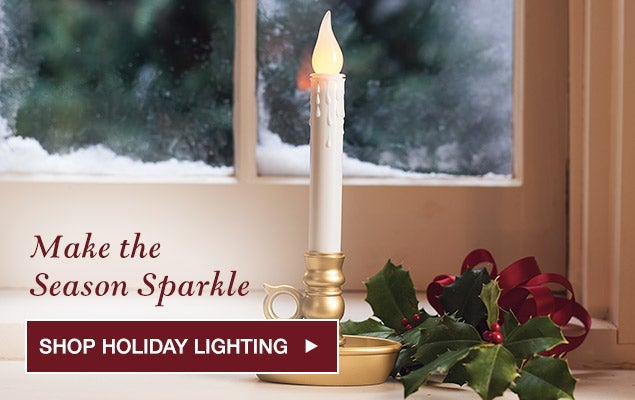 Make the season sparkle. Shop holiday lighting.