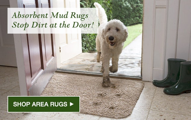 Absorbent Mud Rugs stop dirt at the door. Shop area rugs