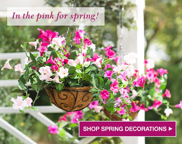 In the pink for Spring! Shop Spring decorations