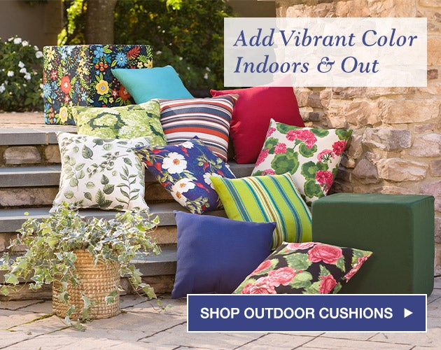 Add vibrant color indoors and out. Shop outdoor furniture cushions.