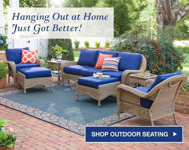 Hanging out at home just got better! Shop Outdoor Seating.