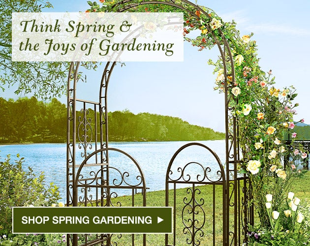 Think Spring and the joys of gardening. Shop spring gardening.
