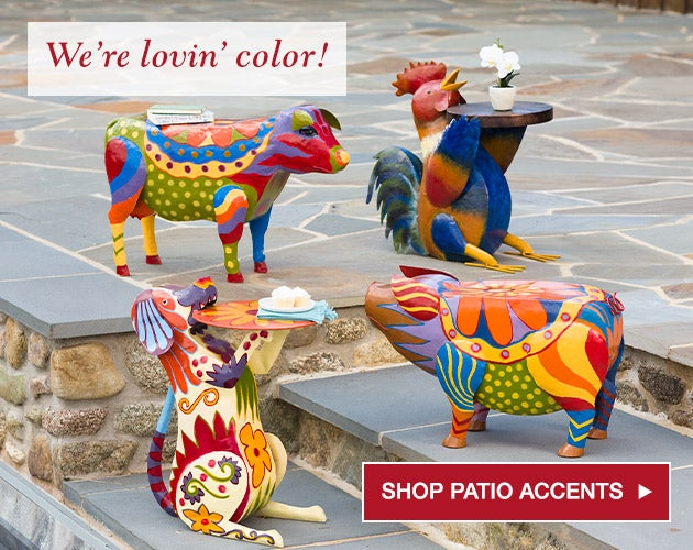 We're lovin' color! Shop patio accents.