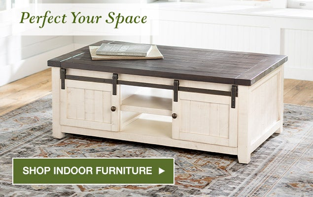 Perfect your space. Shop indoor furniture.