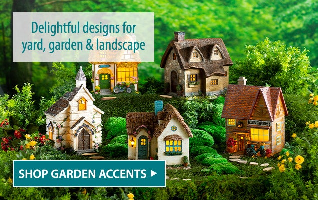 Delightful designs for year, garden and landscape. Shop garden accents