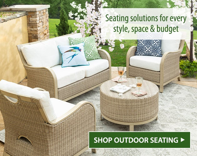 Seating solutions for every style, space and budget. Shop outdoor seating.