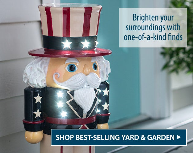 Lighted Uncle Sam Shorty. Brigthen your surroundings with one-of-a-kind finds - Shop Best Selling Yard & Garden